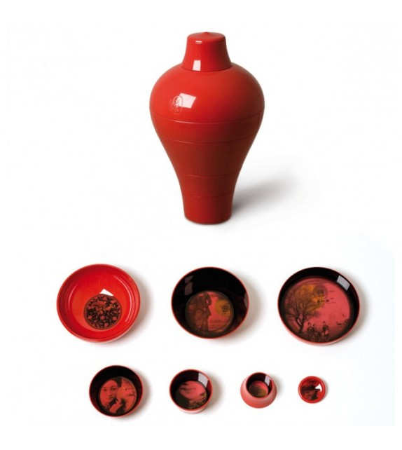 Ming Vase Rouge Service de Table - IBRIDE