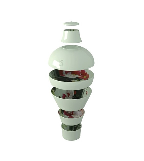 Ming Pivoine Vase Service de Table Empilable - IBRIDE